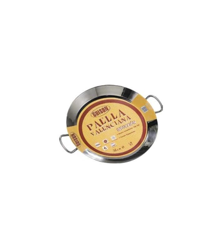 Paella acero inoxidable termodifusión - 50 cm